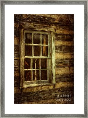 Window To The Past Framed Print by Lois Bryan
