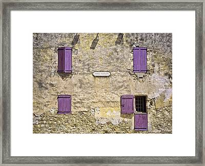 Windows And Doors 4 Framed Print by Mark Coran