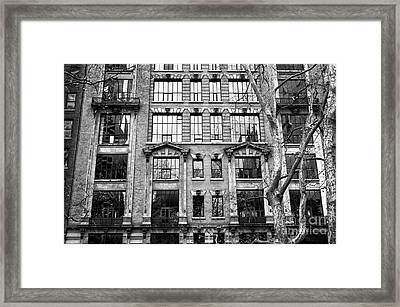 Windows From Bryant Park Framed Print by John Rizzuto