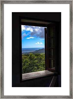 Windows Of Barbados Framed Print by Karen Wiles