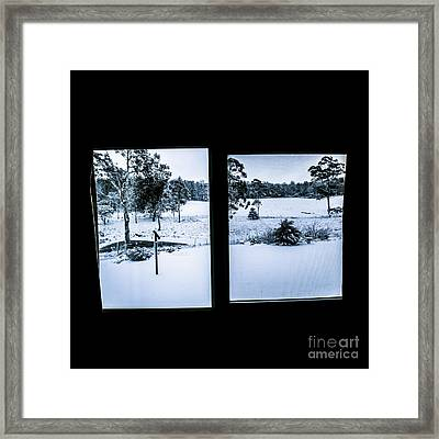 Windows To Winter Framed Print by Jorgo Photography - Wall Art Gallery
