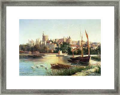 Windsor From The Thames   Framed Print by Robert W Marshall