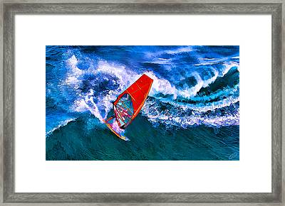 Windsurfer 1 Framed Print by Bill Caldwell -        ABeautifulSky Photography