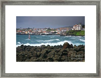 Windsurfer In Sao Roque Framed Print by Gaspar Avila