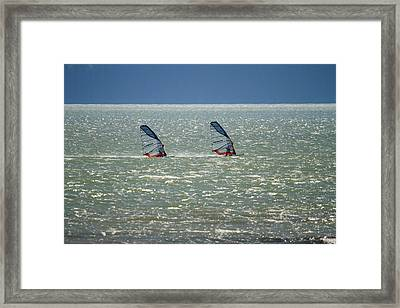 Windsurfing Squamish Canada Framed Print by Pierre Leclerc Photography