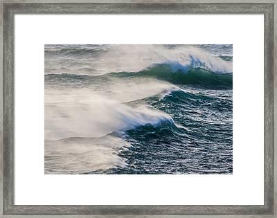 Windswept Ocean Framed Print by Sophie De Roumanie