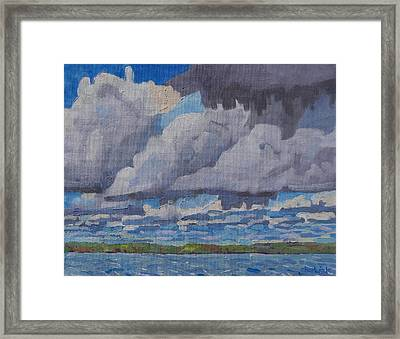 Windy Cumulus Framed Print by Phil Chadwick