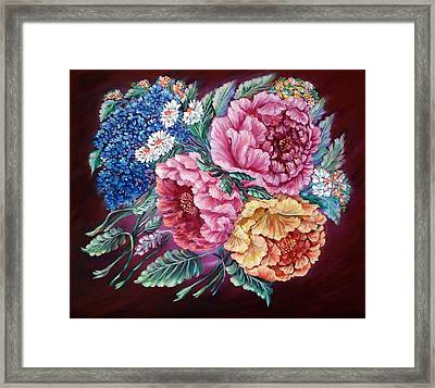Windy Flowers Framed Print by Katreen Queen