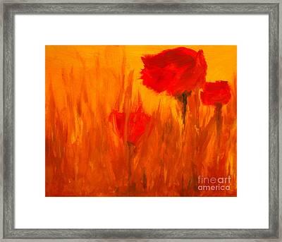 Windy Red Framed Print by Julie Lueders