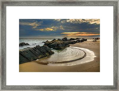 Windy Tarifa At Sunset Framed Print by Guido Montanes Castillo
