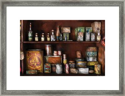 Wine - Rum And Tobacco Framed Print by Mike Savad