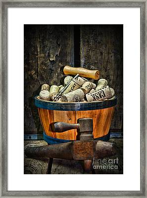 Wine A Different Type Of Fruit Framed Print by Paul Ward