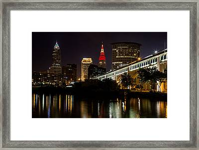Wine And Gold In Cleveland Framed Print by Dale Kincaid