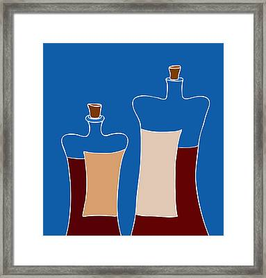 Wine Bottles Framed Print by Frank Tschakert