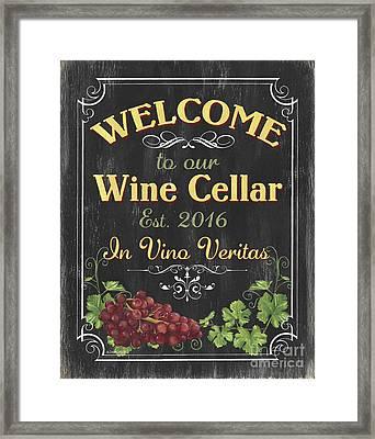 Wine Cellar Sign 1 Framed Print by Debbie DeWitt