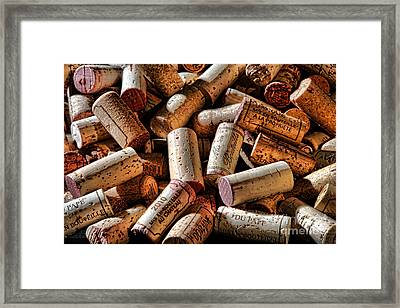 Wine Corks  Framed Print by Olivier Le Queinec