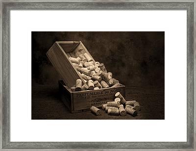Wine Corks Still Life I Framed Print by Tom Mc Nemar