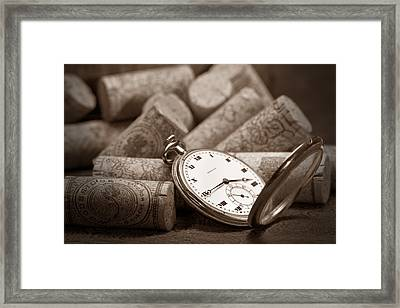 Wine Corks Still Life Vi Aged To Perfection Framed Print by Tom Mc Nemar