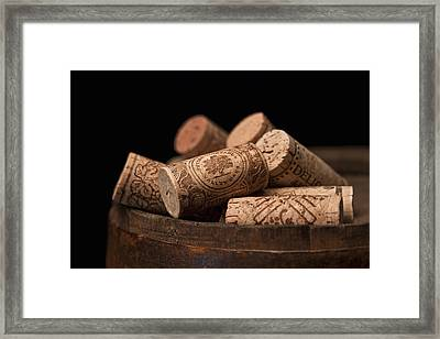 Wine Corks Framed Print by Tom Mc Nemar