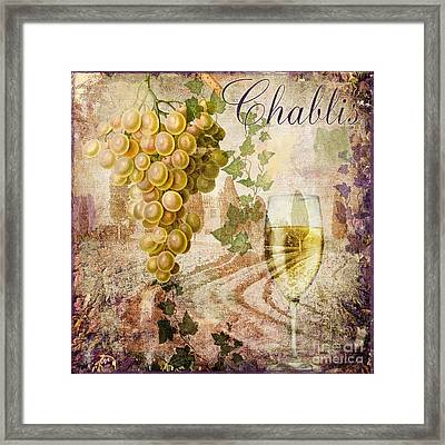 Wine Country Chablis Framed Print by Mindy Sommers