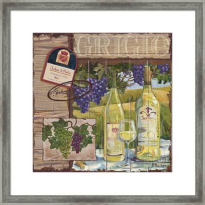 Wine Country Collage II Framed Print by Paul Brent