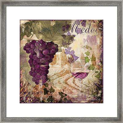 Wine Country Medoc Framed Print by Mindy Sommers