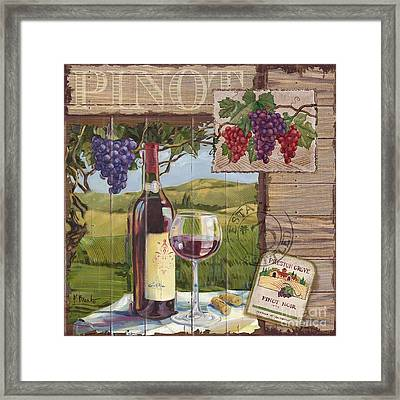 Wine County Collage I Framed Print by Paul Brent