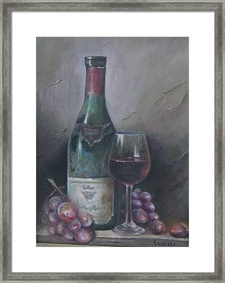 Wine Glass Framed Print by Illa Vaghela