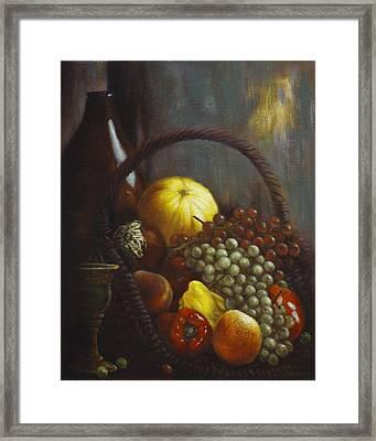 Wine Goblet Framed Print by Harvie Brown