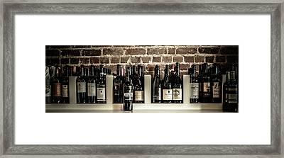 Wine II Framed Print by Randy Bayne