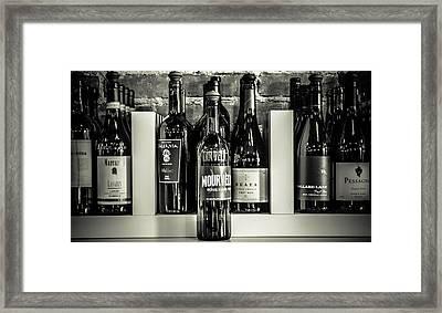 Wine IIi Framed Print by Randy Bayne