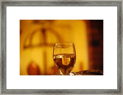 Wine In The Kitchen Framed Print by Peter  McIntosh