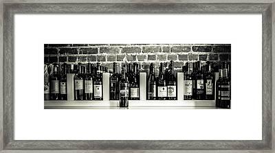Wine Iv Framed Print by Randy Bayne