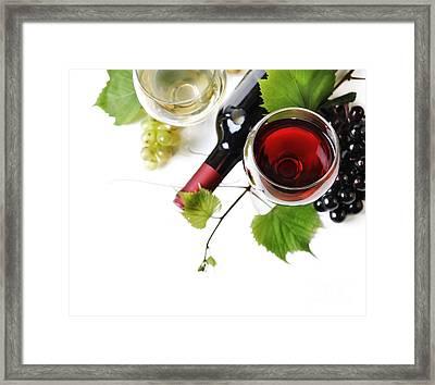 Wine Framed Print by Jelena Jovanovic