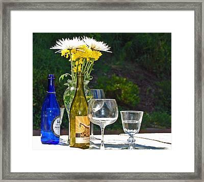 Wine Me Up Framed Print by Debbi Granruth