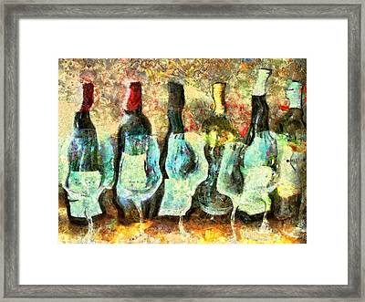 Wine On The Town Framed Print by Marilyn Sholin