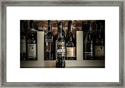 Wine Framed Print by Randy Bayne