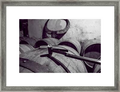 Wine Storage Framed Print by Georgia Fowler