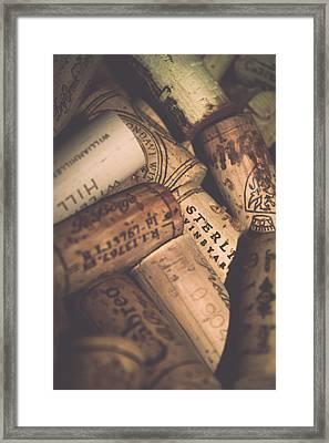 Wine Tasting - Corks Framed Print by Colleen Kammerer