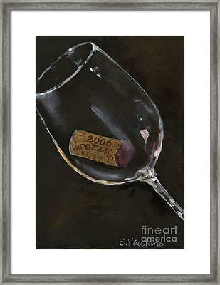 Wine With Dinner Framed Print by Sheryl Heatherly Hawkins