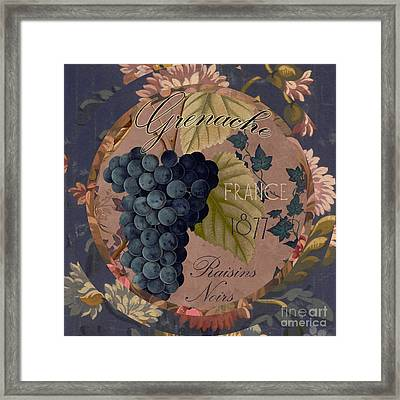 Wines Of France Grenache Framed Print by Mindy Sommers