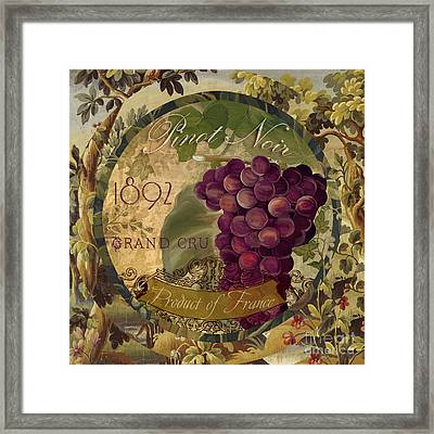 Wines Of France Pinot Noir Framed Print by Mindy Sommers