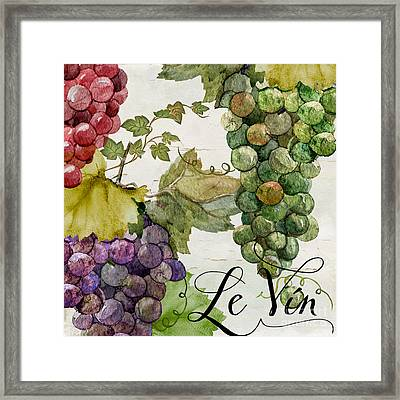 Wines Of Paris II Framed Print by Mindy Sommers