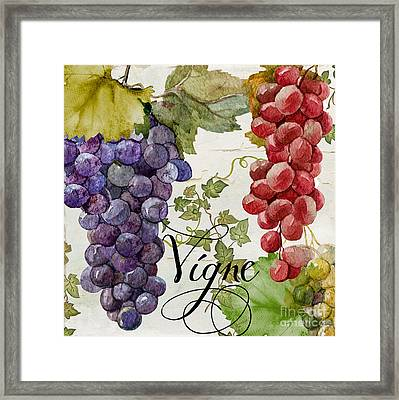 Wines Of Paris Framed Print by Mindy Sommers