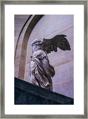 Winged Victory Of Samothrace Framed Print by Pati Photography