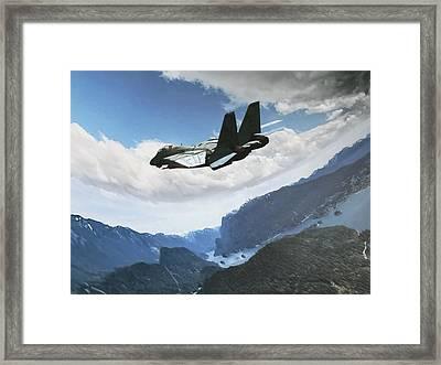 Wingman View Framed Print by Dorian Dogaru