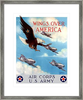 Wings Over America - Air Corps U.s. Army Framed Print by War Is Hell Store