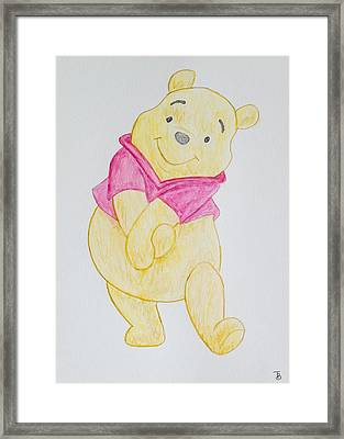 Winnie The Pooh Framed Print by Paul Bartoszek