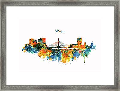 Winnipeg Skyline Framed Print by Marian Voicu