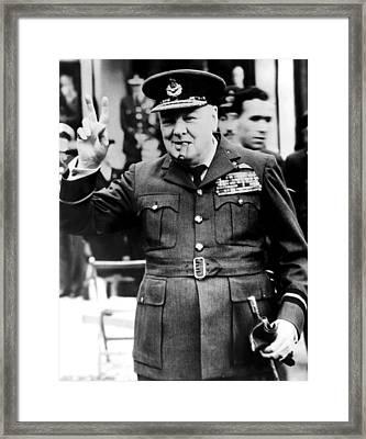 Winston Churchill, 1961 Framed Print by Everett